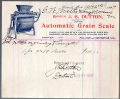 Original 1899 Illustrated Billhead for An Automatic Grain Scale by J. Flour Mill, Vintage Ephemera, Grains, Scale, The Originals, Best Deals, Stationery, Ebay, Weighing Scale
