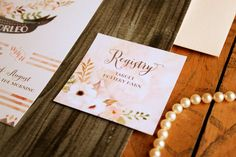 Bohemian Floral Bridal Shower Invitations for by PaperStreetPress