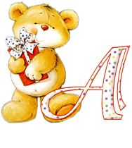 Alfabeto de osito dando regalo. - teddy ABC Cute Alphabet, Alphabet Fonts, Any Birds, Letter D, Machine Embroidery Designs, Bowser, Creations, Photos, Things To Come
