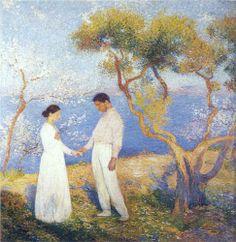 Landscape with Couple - Henri Martin