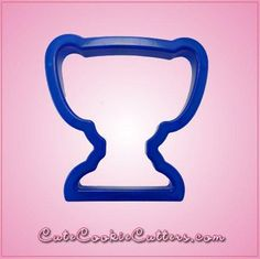 Reward the winner with some winning treats! Bake some cookies with the help of the blue plastic Blue Trophy Cookie Cutter, which is 3-1/4 inches by about 3 inch