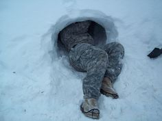 https://flic.kr/p/bnyPRP | Snow cave | SGT Tailor L. Myrick, C Co, 307th Expeditionary Signal Battalion, construct a snow cave improvised shelter in preparation for bivouac operations as part of Arctic Light Individual Training (ALIT). ALIT training is an annual requirement for all Soldiers assigned to United States Army Alaska (USARAK). Photo provided by CSM Carlos M. MedinaThe U.S. Army Following Puppy check  Army Sgt. 1st Class Russell Minta, senior noncommissioned officer for the Defense…