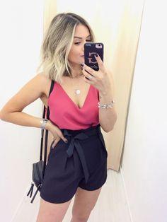 GLOSS | Home | Página inicial Summer Outfits, Casual Outfits, Cute Outfits, Classy Casual, Casual Looks, Short Elegantes, Look Con Short, Ideias Fashion, Short Dresses