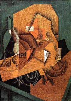 Juan Gris (1887 - 1927) | Synthetic Cubism | The Packet of Coffee - 1914