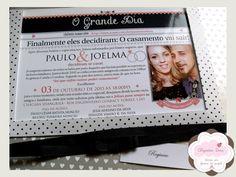 Convite Casamento Poás Vintage