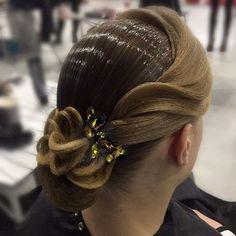 Ballroom hair style