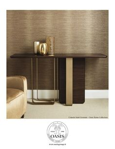 Bridge For Design – May 2016 Consolle designed by Massimiliano Raggi for Oasis Sideboard Furniture, Metal Furniture, Table Furniture, Luxury Furniture, Furniture Design, Console Cabinet, Console Tables, Furniture Inspiration, Decoration