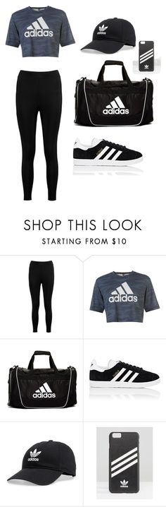 """""""Untitled #164"""" by kajadelic ❤ liked on Polyvore featuring Boohoo, adidas and adidas Originals"""