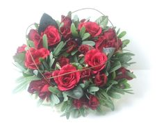 Stunning large and small red roses
