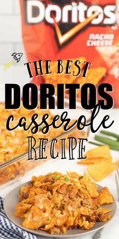 Doritos Recipes, Beef Casserole Recipes, Ground Beef Casserole, Meat Recipes, Mexican Food Recipes, Cooking Recipes, Doritos Casserole, Chicken Recipes, Cinco De Mayo