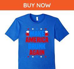 Mens Make America Drunk Again T-Shirt Funny 4th of July Shirt Small Royal Blue - Holiday and seasonal shirts (*Amazon Partner-Link)