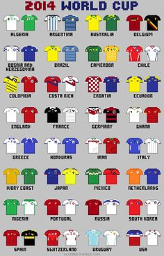 2014 World cup http://alcreed.tumblr.com/post/87026933174/8-bit-fifa-world-cup-2014-buy-this-drawing-as-a: