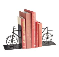 Bicycle Bookends are an instant classic for Dad's literary classics