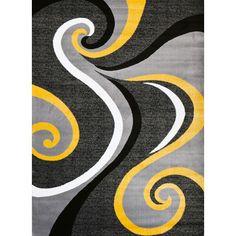 Persian-rugs Modern Yellow Area Rug | AllModern