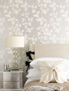 Metallic wallpaper is a huge trend this year. Find out how to use it the right way in your home: https://nyde.co.uk/blog/wallpaper-trends-2016/?utm_source=Pinterest&utm_medium=Social&utm_campaign=Metallic%20Wallpaper