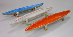 """""""Olive Boats"""" hand sculpted by D. Wharton.  Give a gift with some personality...great for someone who loves to entertain!"""