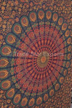 Twin Mandala Tapestry Wall Hanging Gypsy by IndianHomeTextile