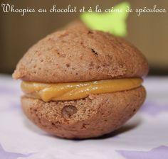 Whoopies au chocolat et crème de spéculoos