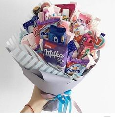 Bff Birthday, Birthday Candy, Christmas Birthday, Birthday Gifts, Food Bouquet, Gift Bouquet, Candy Bouquet, Valentine Chocolate, Chocolate Gifts
