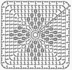 Transcendent Crochet a Solid Granny Square Ideas. Inconceivable Crochet a Solid Granny Square Ideas. Crochet Motifs, Granny Square Crochet Pattern, Crochet Blocks, Crochet Diagram, Crochet Afghans, Crochet Squares, Crochet Granny, Crochet Stitches, Crochet Patterns