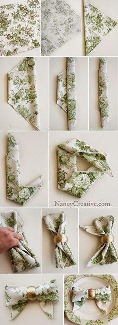 Artesanato na Pratica: Passo a passo como dobrar guardanapos
