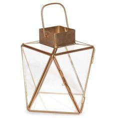 URBANIUM copper-coloured metal and glass lantern | Maisons du Monde | Urban Garden
