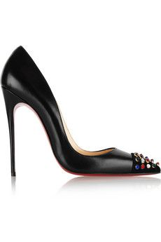 Christian Louboutin Cabo 120 embellished leather pumps | NET-A-PORTER - Just bought these!