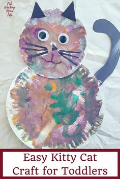 Easy Grandparents Day Toddler Craft: Make a Kitty Cat - Fab Working Mom Life Make this easy kitty cat craft! Easy Grandparents Day Craft for Toddlers Toddler Arts And Crafts, Toddler Art Projects, Baby Crafts, Toddler Activities, Craft Activities, Crafts To Make, Fun Crafts, Crafts For Kids, Crafts Toddlers