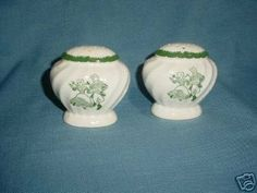"Pair Vintage Porcelain Salt & Pepper Shakers . $8.00. 3"". Mint condition. They still have the old corks."