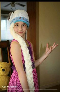 Crochet Elsa Hair : Crocheted Queen Elsa from Frozen hair Hat with by CoCoCrochetByLee