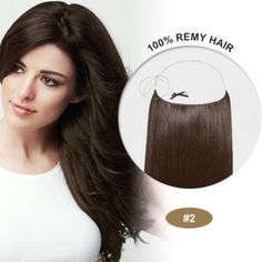 """US FREE SHIPPING. Halo Hair Extensiones 100% Human Remy natural hair 20"""" color #2 by peloxtensiones on Etsy"""