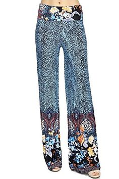 U-Kiss Women's Tribal Print Wide-leg Palazzo Pants with the High Fold Over the Waist Wide Leg Palazzo Pants, Printed Palazzo Pants, Printed Leggings, Black Leggings, Wide Leg Pants, Comfy Pants, Pants Outfit, Leggings Fashion, Activewear