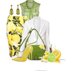 """""""Fruit Contest - Lemon and Lime"""" by brendariley-1 on Polyvore¦I just really like the shoes..."""