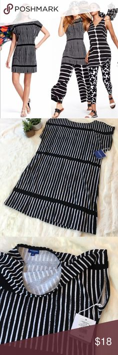 NWT Marinekko for Target black and white dress Super versatile cap sleeve dress. Super soft inside - outter feels like Terry cloth. Marimekko Dresses