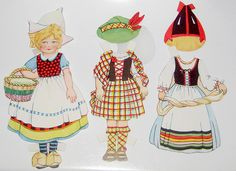 Traveling Dolly Paper Doll Costumes | by Pennelainer