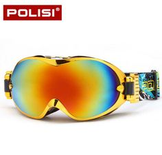 POLISI Winter Ski Snowboard Goggles Professional Double Layer Lens Anti-Fog Snowboarding Glasses UV400 Snow Skiing Eyewear