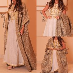@bent_jibla Arab Fashion, India Fashion, Kimono Fashion, Girl Fashion, Fashion Dresses, Maxi Dresses, Morrocan Dress, Style Oriental, Long Sleeve Evening Dresses