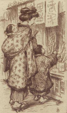 'Japanese Mother with Child' by Tavik Frantisek Simon