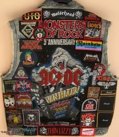 Choosing The Right Men's Leather Jackets Heavy Metal Patches, Heavy Metal Rock, Heavy Metal Bands, Combat Jacket, Battle Jacket, Band Patches, Pin And Patches, Hard Rock, Spiked Leather Jacket