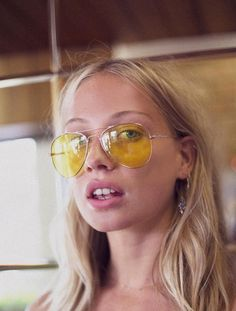 9e6000cb118 OK WHEN I WAS IN HAWAII IN 2011 I WANTED THESE CHANEL YELLOW LENS SUNNIES  AND · Yellow Tinted SunglassesAviator ...