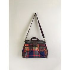 "L.A.M.B. Tartan Doctor overnight plaid bag purse L.A.M.B. By Geen Stefani   EDINBURGH MCGREGOR TARTAN PLAID LARGE DOCTOR BAG HANDBAG  This purse is in good overall condition. There are some flaws and wear to the edges, bottom and metal hard wear.   Height: 11.5""  Depth: 7.5""  Width:18""  Strap Drop: 22.5""  Size: Large L.A.M.B. Bags Crossbody Bags"