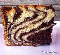 Todo con azúcar: BIZCOCHO CEBRA DE VAINILLA Y CHOCOLATE