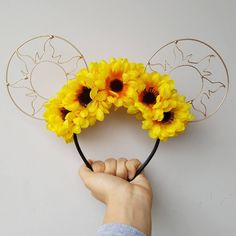 Excited to share the latest addition to my #etsy shop: Sunflower Sunrise, Mickey Ears, Diy, Christmas Gift, Gift for her, Wire Ears, Disney, Sun, Sunflower #disney #wireears #gold #floral #flower #hearthemagic #sunflower #sun http://etsy.me/2i7BuQu