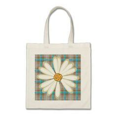 Our Daisy tote bags are great for carrying around your school & office work, or other shopping purchases. Plaid Pattern, Design Your Own, Cotton Canvas, Baby Gifts, New Baby Products, Daisy, Reusable Tote Bags, Beautiful, Margarita Flower