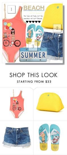 """""""Summer Fun :)"""" by myfashionwardrobestyle ❤ liked on Polyvore featuring Little Marc Jacobs, Tory Burch and Havaianas"""