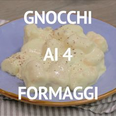 GNOCCHI AI 4 FORMAGGI is a tasty and creamy first course: potato gnocchi are dipped in an enveloping condiment based on gorgonzola, casera, fontina and Emmentaler! Italian Desserts, Italian Dishes, Italian Recipes, Good Food, Yummy Food, Tasty, Breakfast Gravy, Sausage Breakfast, Food Tags
