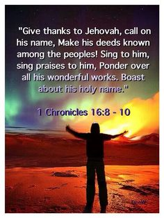 1 Chronicles 16:8-10