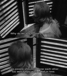 """Eclipse (L'eclisse),1962', Italian film by Michelangelo Antonioni, starring Alain Delon and Monica Vitti """"love"""""""