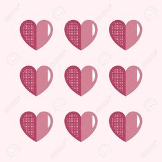 Valentine's Day pink hearts pattern vector , #ad, #pink, #Day, #Valentine, #vector, #pattern