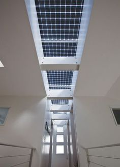 Is it a row of skylights, or is it a row of power producing photo voltaics?  The answer - BOTH!